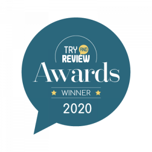 2020 try and review winner badge