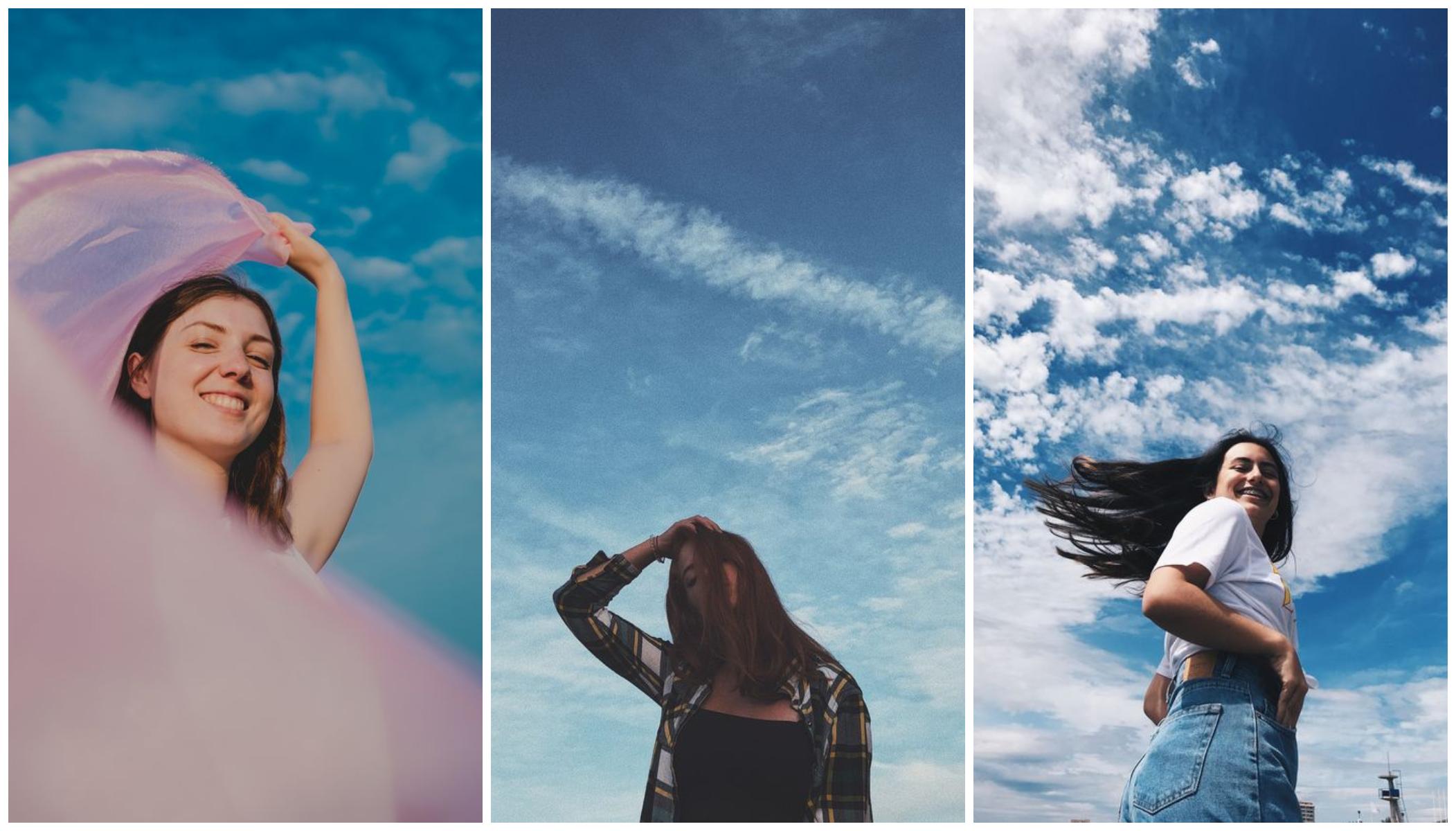 sky photoshoot
