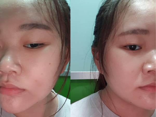 face powder baking - after exercise