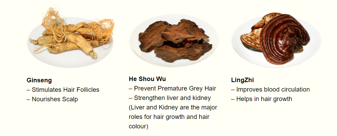 Chinese Herbal Ingredients Hair Loss