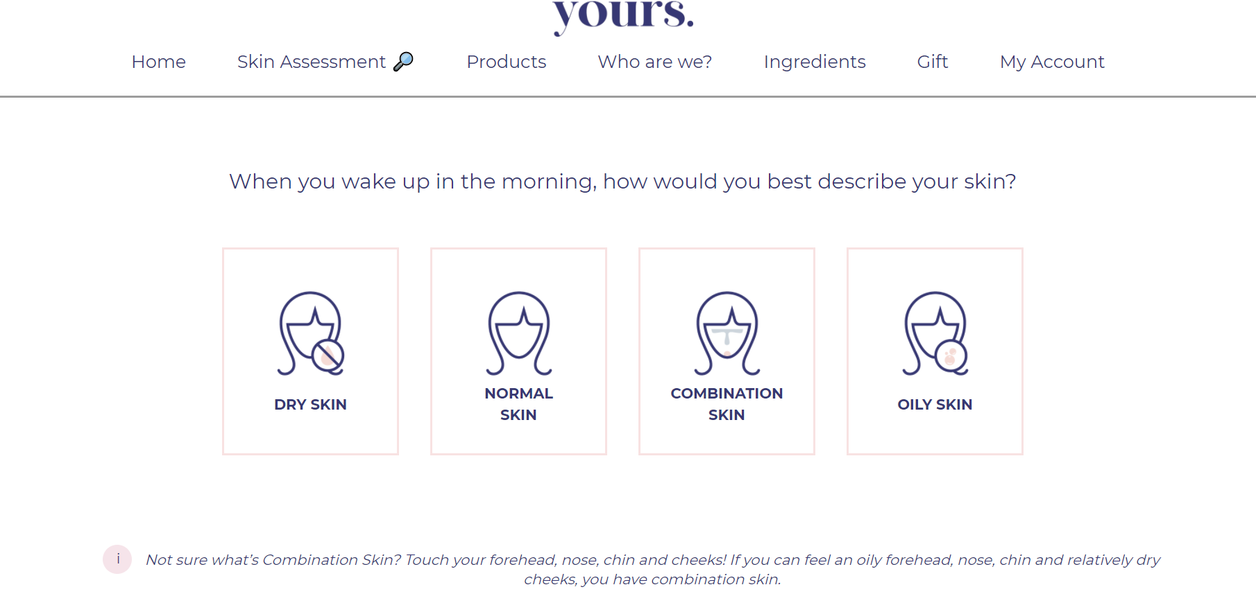 (Personalised skincare quiz)