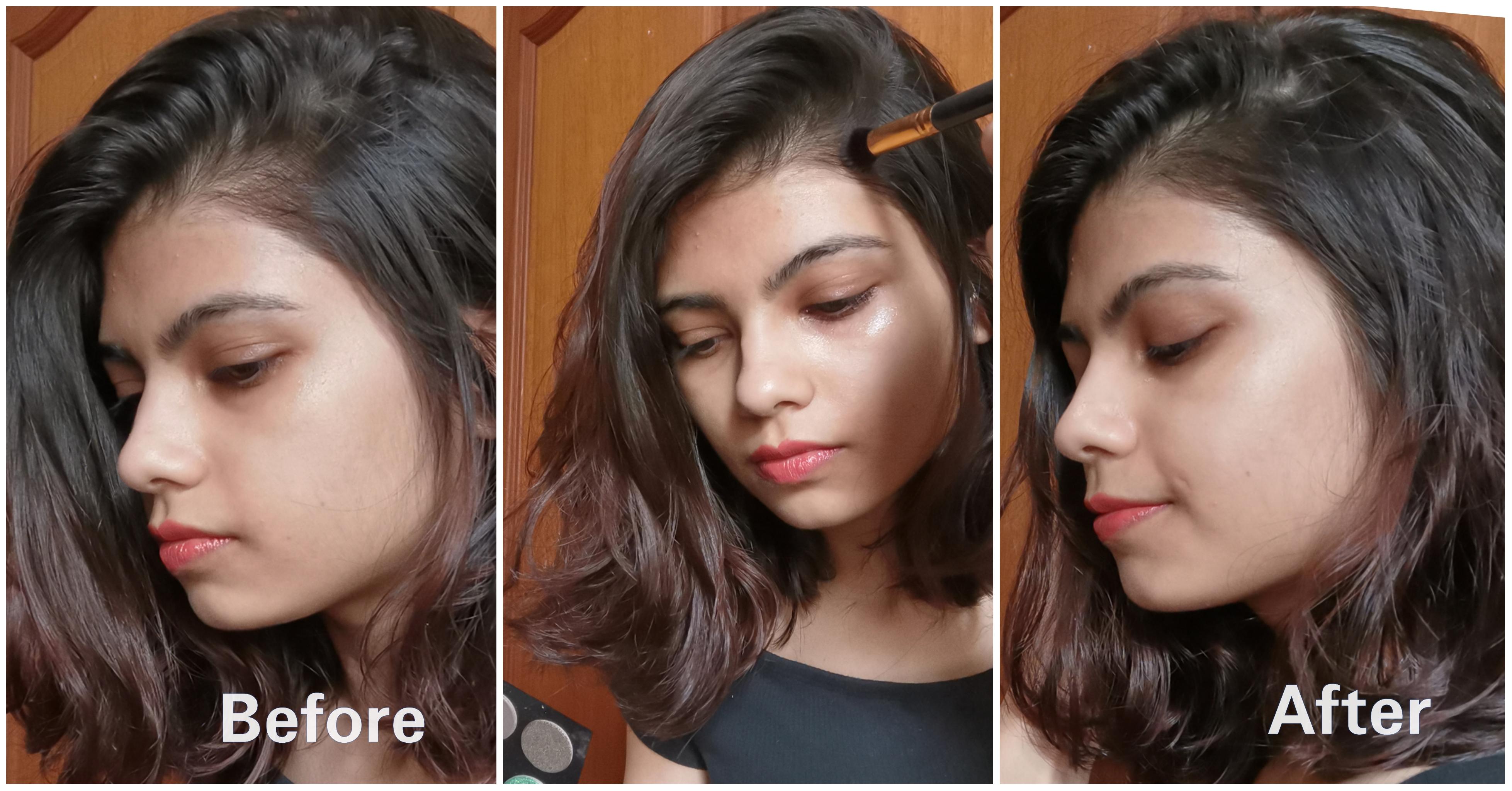 popular hair hacks_filling bald spots