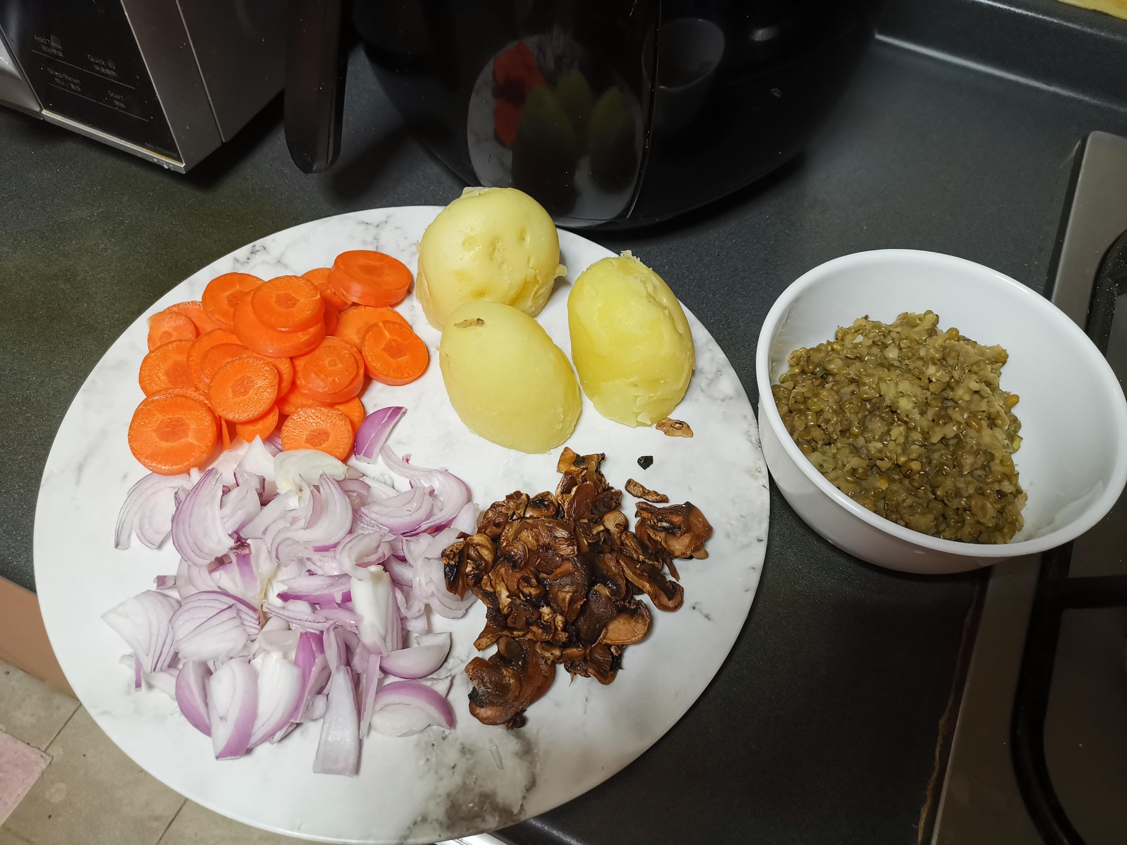 Vegan recipe ingredients
