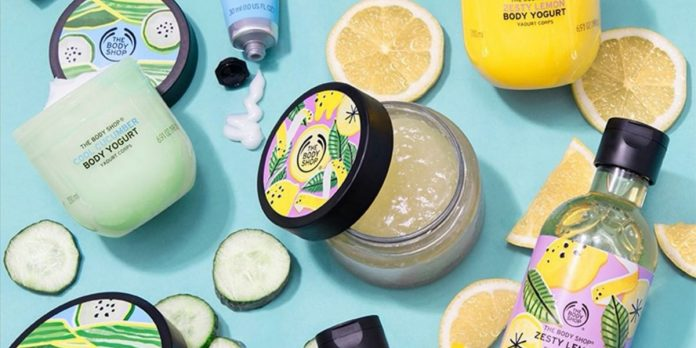 the body shop summer skin care line