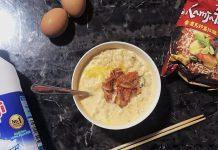 Cover hack makanan ramen susu