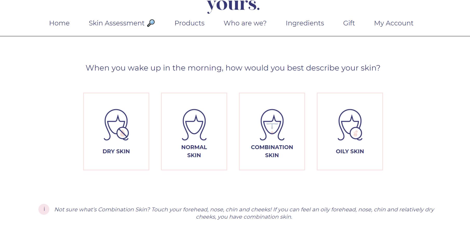 (แบบทดสอบสำหรับ Personalised Skincare)