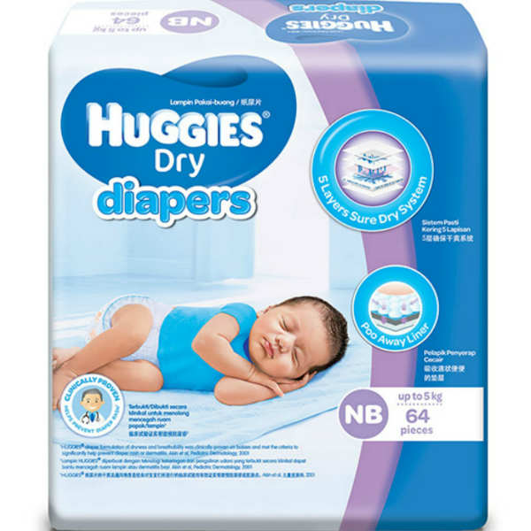 Huggies Dry New Born Pampers