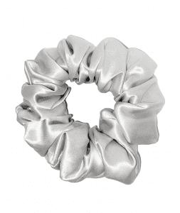 Silver Scrunchie by Puffle Beauty